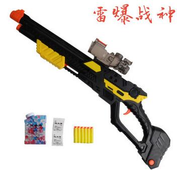 Popular toys Thunderstorms Ares bb gun bullet gun crystal double gun soft bullet gun free shipping(China (Mainland))