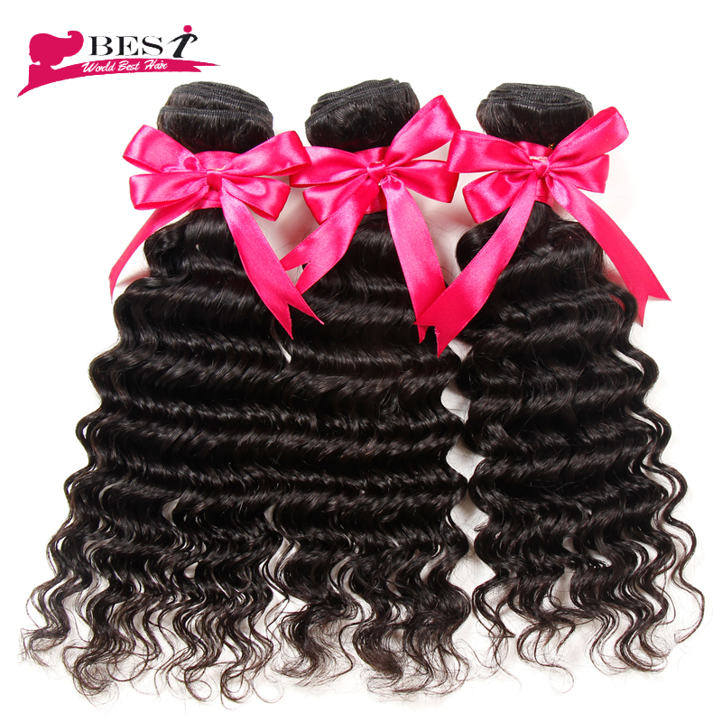 Deep Wave Brazilian Hair Weave Bundles 6A Cheap Unprocessed Remy 100 Brazilian Virgin Hair Bundle Deals 100% Human Hair Weaving