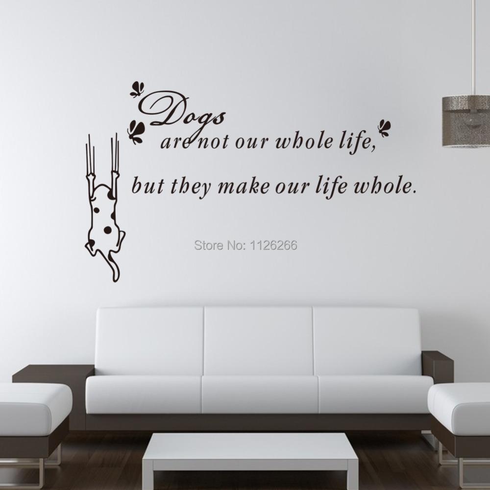 Decoration Wall Sticker Cartoon Dog Vinyl Wall Art Decals Quotes Life  Philosophy .