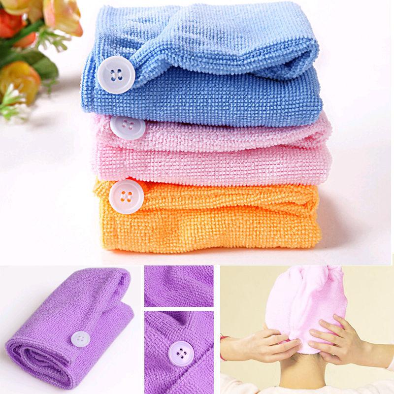 1PC 25x63cm Microfiber Magic Drying Turban Wrap Towel/Hat/Cap Hair Dry Quick Dryer Bath Salon Towels(China (Mainland))