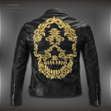 2015 new arrive brand motorcycle leather jackets men ,men's leather jacket, jaqueta de couro masculina,mens leather jackets(China (Mainland))