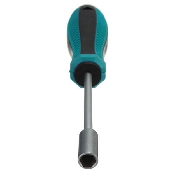 6mm Arbor harden Antislip plastic Rubber Handle Metal Hex Nut Key Hand CRV Socket Wrench Screwdriver universal Screw Driver tool