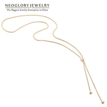 Neoglory Alloy Rose Gold Plated No Min Order 2012 Fashion Long Necklaces for Women Jewelry Sweater Chain