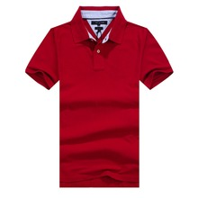 2016 Fashion Summer Short Sleeve Cotton Men Polo High Quality Soft Braethable Brand Designer Male Solid Camisa Polo Shirt S-XXL