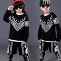 Popular New Spring Autumn Children Hip Hop Clothing Boys Girls Performance Clothing Sets Kids Sport Suits