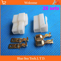 20 sets 6 3mm 2 Way pin Electrical Connector Kits Male and Female socket plug for