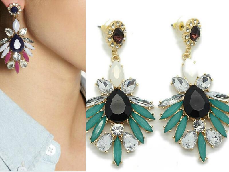 Серьги висячие Flower crystal earrings nickle brincos E136 big earrings серьги висячие vintage style pentacle earrings