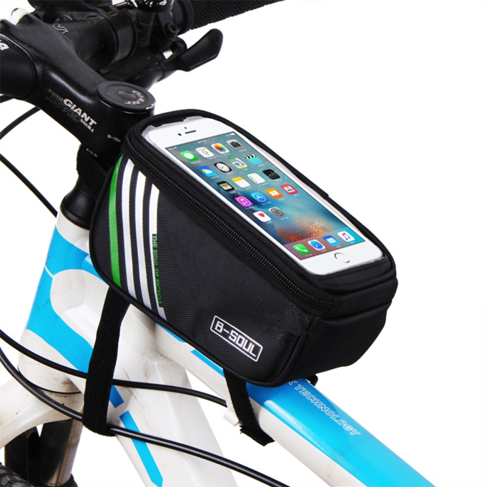 Bicycle Frame Front Head Top Tube Waterproof Bike Bag Touch Screen Cell Phone Bag Case Pouch 4.8/5.7 Inch Bike Accessories(China (Mainland))