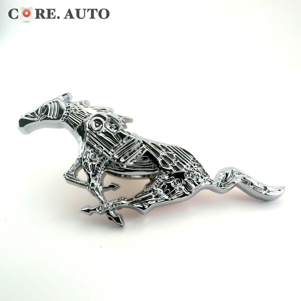1PC Mustang Running Pony Running Horse Badge Chrome Car Auto Emblem Decal for Mustang Sticker(China (Mainland))