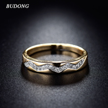 Buy BUDONG Fashion Women Ring Valentines Day 2017 Gold-Color Ring Vintage Crystal Cubic Zirconia Wedding Rings Jewelry xuR235 for $2.69 in AliExpress store