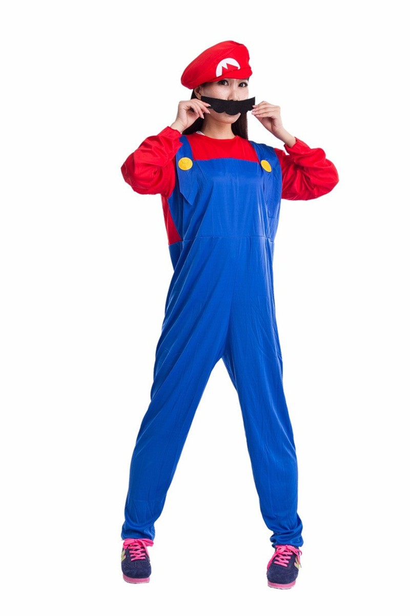 Halloween Cosplay Super Mario Luigi Bros Costume For Kids And Adults Funny Party Wear Cute Plumber Mario Set Children Clothing