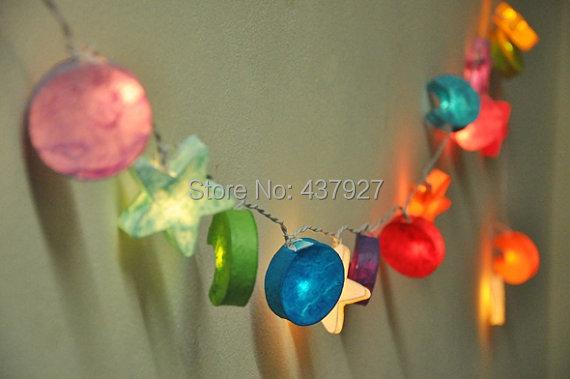 buy 20 lights star moon paper string