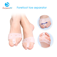 2Pairs Gel Forefoot Toe Separator Stretchers Bunion Splint Straightener Corrector Feet Hallux Valgus Cure feet care Nail tools