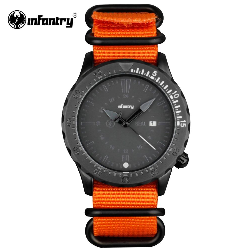 INFANTRY Men Quartz-Watch Original Brand Military Army Sports Male Clock 2016 Casual Fabric Strap Watch Relogio Masculino(Hong Kong)