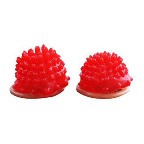 2015 Red Silicone Head Ribbed Dotted Spike Latex Lubricated Condom Safer Sex Greater Pleasure for Men And Women 51LM smt 101
