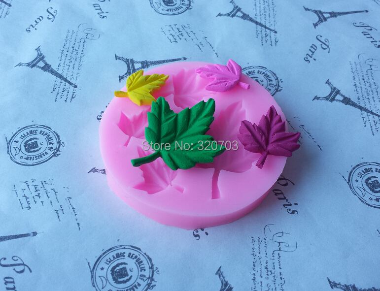 New arrive, Maple Leaves Shape for silicone fondant cake tool. Lace mold cookie, chocolate, sugar bakeware mold E009(China (Mainland))