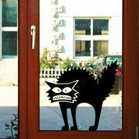 New 3D Wall Stickers Halloween Black Cats Decor Decals for Walls Home Decoration