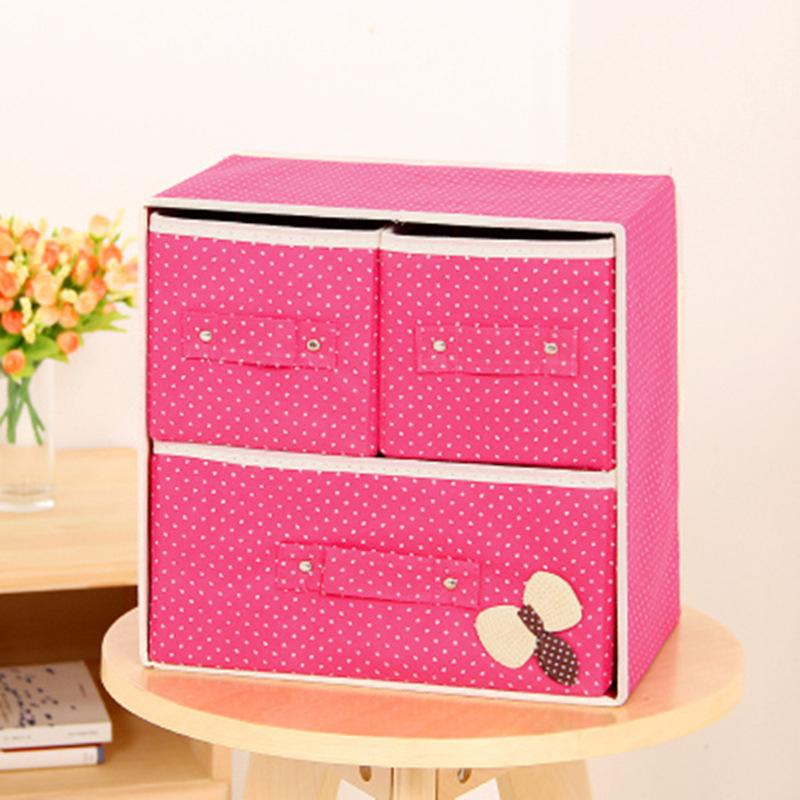 Hit Color Wardrobe Two Layer Cloth Art Storage Drawer Storage Bag Storage Bag Non-Woven Fabric Folding Case Storage Box(China (Mainland))