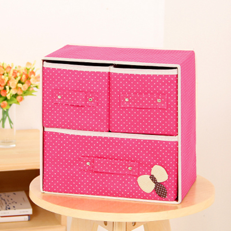Hit Color Wardrobe Two Layer Cloth Art Storage Drawer Storage Bag Storage Bag Non-Woven Fabric Folding Case Storage Box(China (Mainland))