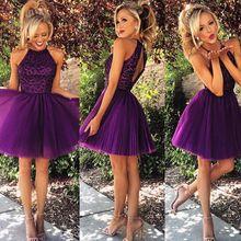 Nouvelle arrivée 2015 élégant perles violet robe de soirée courte robe de bal robes de Cocktail 2015(China (Mainland))