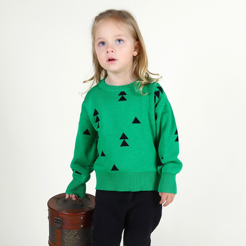 Campure Autumn Winter Bobo Style 1-5Yrs Baby Boys Girls Sweater Triangle Casual England Kit Children Clothing Boys Girls Clothes(China (Mainland))