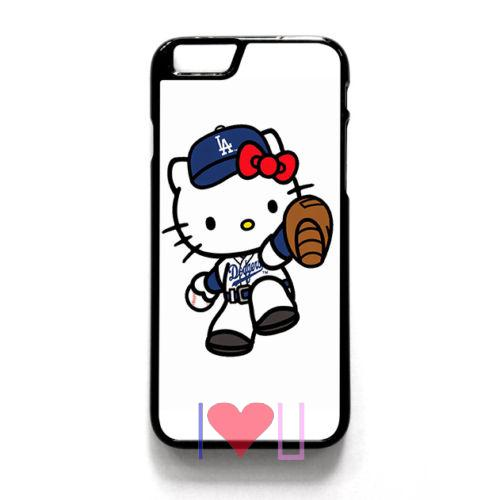 HELLO KITTY LA DODGERS Protective back skins cellphone case cover fits for iphone 4/4s 5/5s SE 6/6s plus ipod touch4/5/6(China (Mainland))