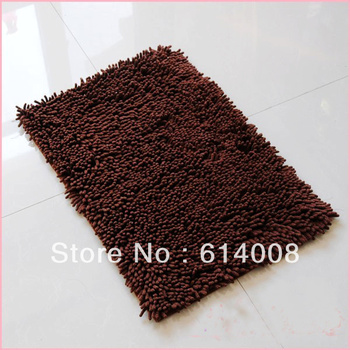 CHEAP! chenille door side rugs chenille fabric 3 cm file longth flexible factory directly sales factory directly