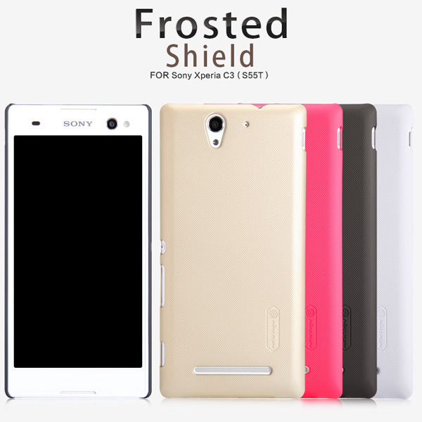 Case SONY Xperia C3 S55T NILLKIN super frosted shield hard back case screen protector - China ZDF Trade Co.,Ltd store