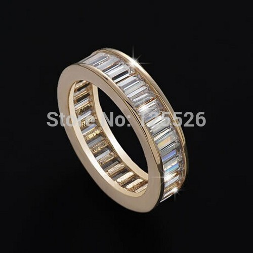 Victoria Wieck Brand Jewellery Princess Cut Simulated stones Gemstones 10KT Gold Filled Ring Sz 5-10(China (Mainland))