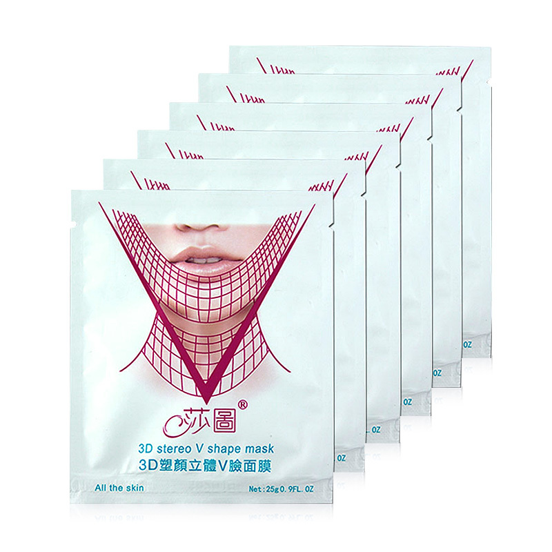 Face lifting 3D Facial Mask Lifting Firm Skin Care firming powerful V-Line Face Mask Slimming Cream Lifting Shaping Product 7pcs(China (Mainland))