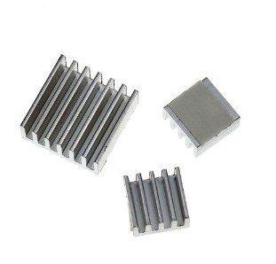 Aluminum Heatsink set for Raspberry Pi - Set of 3 Heat Sinks Free Shipping
