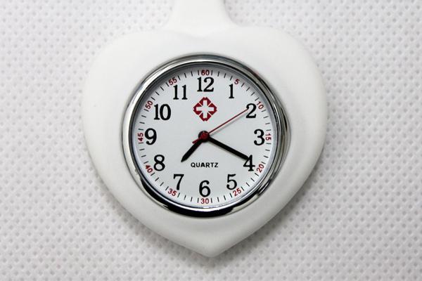 25pcs/lot DHL shipping heart shape nurse watch doctor watch silicon watch Professional Useful Medical pocket Watch(China (Mainland))
