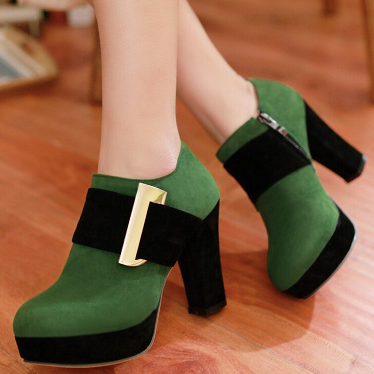 2015 new spring summer fashion women pumps scrub metal designed mixed colors plus size EUR 34-43 high platform wedges lady shoes<br><br>Aliexpress