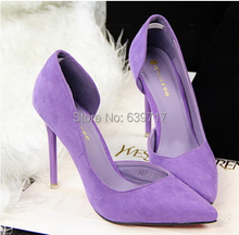 2015 New female retro pointed high-heeled sandals woman OL fashion sexy suede high-heeled shoes brand design high heels