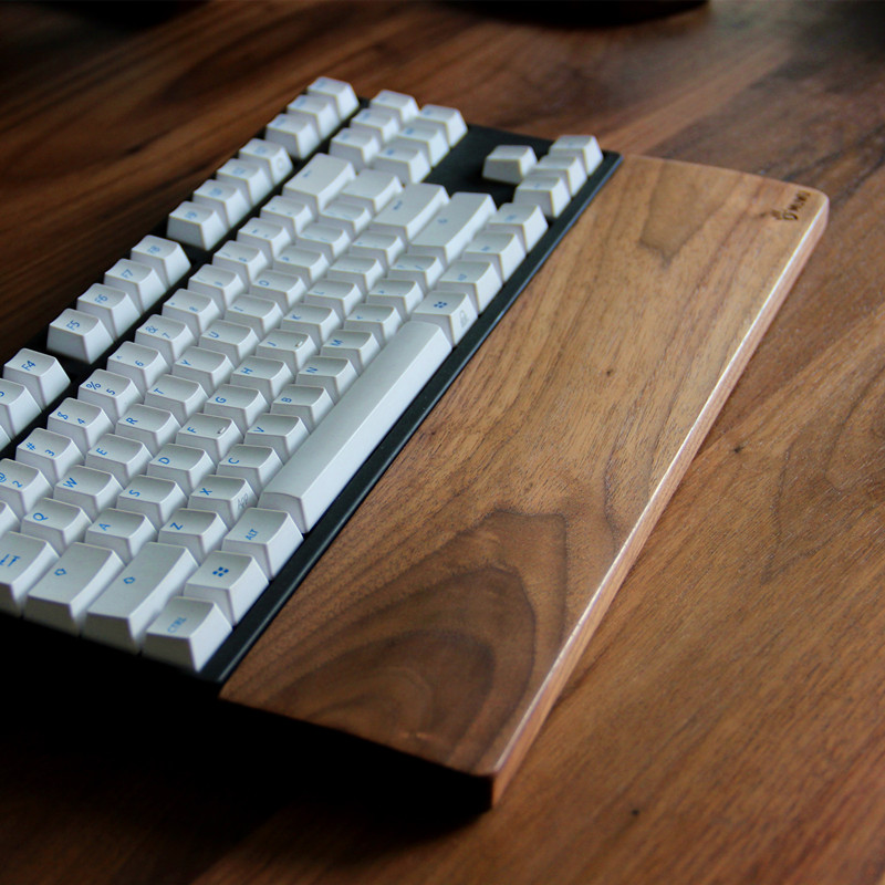 High Quality Wooden Mechanical Keyboard Wrist Rest Pad,Wrist Support Hand Pad For Mechanical Keyboard (Walnut for 60/87/104 key)(China (Mainland))
