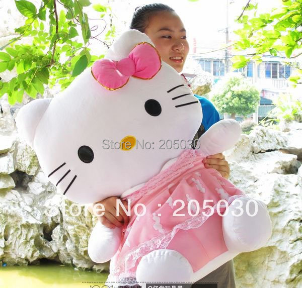 New Plush Toy Hello kitty Stuffed DOLL 50cm or 75cm Plush animal Toy Fast shipping 1pc k750(China (Mainland))