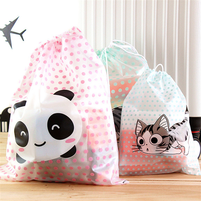2PCS/sets Transparent Waterproof Vacuum Seal Bags Moble Bra Shoes Organize Travel Cosmetics Plastic Storage Bags(China (Mainland))