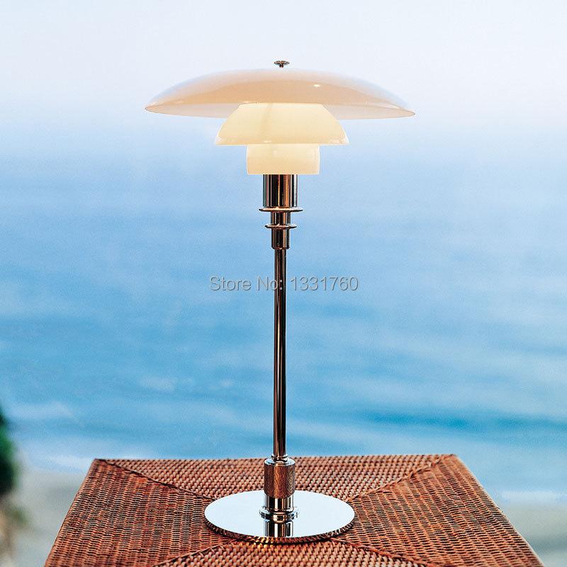 Louis Poulsen PH 3/2 Glass Table Lamp desk lighting Denmark Modern light Louis Poulsen Poul Henningsen table Light free shipping(China (Mainland))