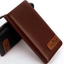 2015 the new Single zipper bag long wallet phone explosion package slim card package