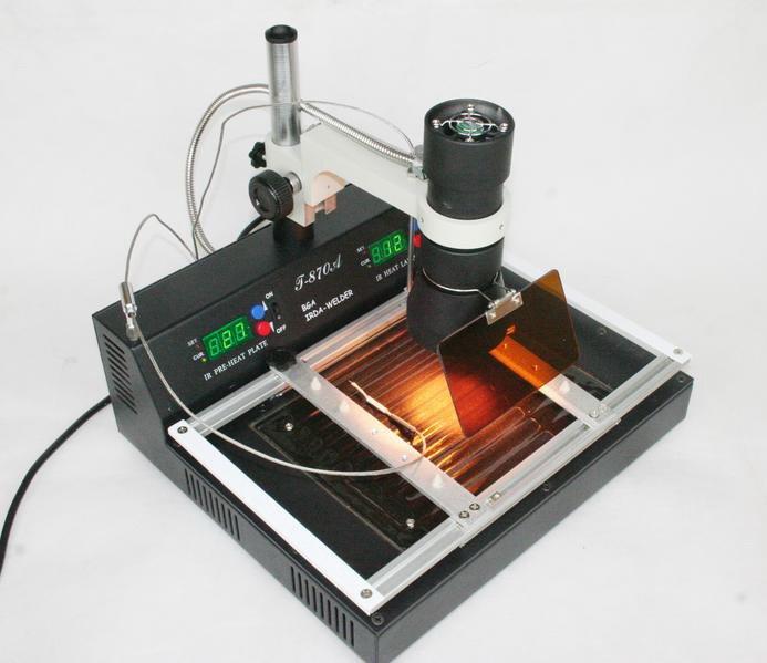Hot sale PUHUI T870A IR DA WELDER infrared soldering station for computer repairing reballing machine(China (Mainland))