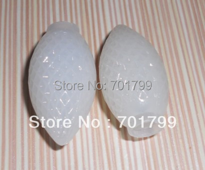 faceted milky White C7 covers;100pcs/set