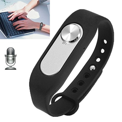 (10PCS/lot)DHL Free shipping Wearable Wristband 4GB Digital Voice Recorder Wrist Watch, One Button Long Time Recording(Black)(China (Mainland))