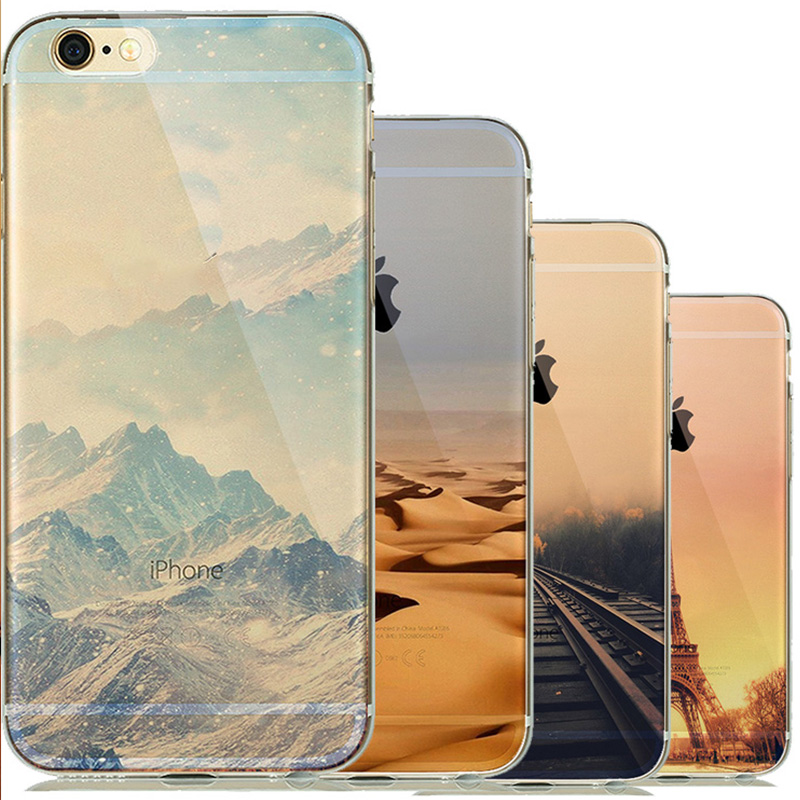 Nature Clear Landscape Phone Case Coque for capinha para iphone 5 5s 6 6s Silicone Soft Cover The Big Ben Scenery Sunrise Sleeve(China (Mainland))