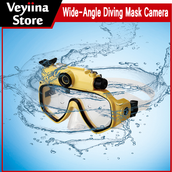 5.0MP Wide-Angle HD 720P 30m Diving Mask Camera Mini Action Camera Play On TV With Waterproof DVR Camcorder Fashion Gift(China (Mainland))