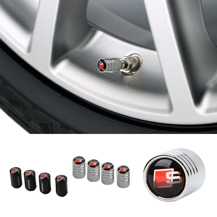 Metal Car Air Valve Caps Tire Wheel Rim Trims Embelm Logo Cover For Audi A4 A1 A2 A3 A6 RS4 S4 Q3 Q5 Q7 TT A8 A4L S LINE Styling(China (Mainland))