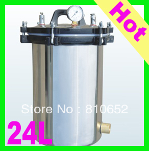 24L Handheld Stainless Pressure Steam Sterilizer Autoclave Sterilizer Coal and Electric heating autoclaves(China (Mainland))