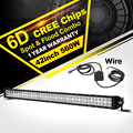 Oslamp 42 560W CREE Chips 6D LED Light Bar Combo Beam Led Work Light Bar Offroad