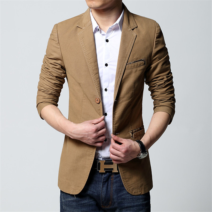 2015 New Brand Summer Style Fashion Wild Korean Stylish Slim Fit Men s Suit Jacket  Casual Business Dress Blazers Plus Size M-6XL caff641a9cb0
