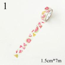 DIY Buah Dekoratif Washi Tape Masking Tape untuk Diary Dekorasi Kawaii Semangka Peach Llemon Pita Perekat untuk Anak-anak Hadiah(China)