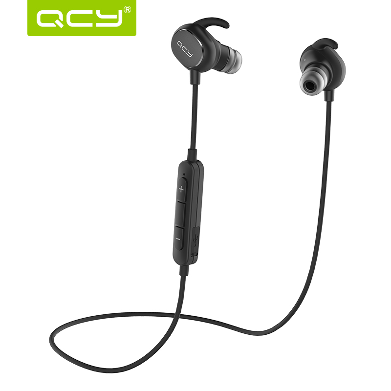 2016 New QCY QY19 Bluetooth Headset Wireless Earphone Sport English Voice Earbuds For iPhone Xiaomi Brand Earphones with Mic(China (Mainland))